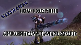 How To Get The Armageddon 2 Handed sword In Naxxramas 25 Man : World of Warcraft