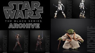 Star Wars The Black Series Archive Wave Action Figures Images