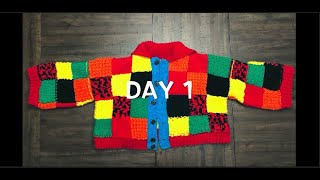 Recreating Harry Styles' Patchwork Cardigan- Day 1