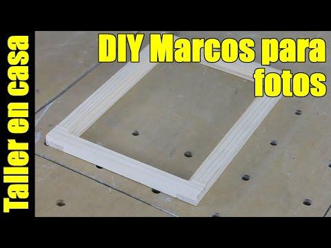 Como hacer marcos para fotos / Usando uniones a media madera