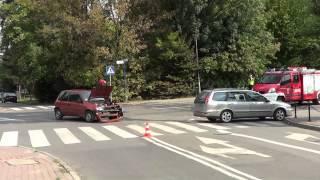 Kolizja na ul. Krakowskiej w Krośnie