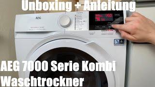 AEG 7000 Serie Kombi Waschtrockner L7WB65684 / DualSense - 8,0kg Waschmaschine Unboxing & Anleitung