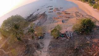Flying around a deserted Thai Island beach at sunset | DJI FPV | 4.20.2020