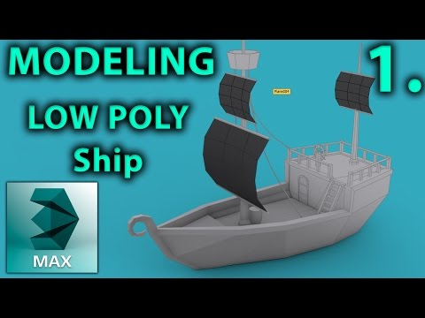 Low poly ship modeling tutorial 1. | pirate ship | 3dsmax tutorial | 3d Modeling | beginner tutorial