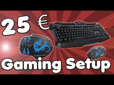 DAS 25 EURO GAMING SETUP | Gaming Tastatur und Maus Set für 25 Euro? | Review