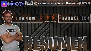 UNKNOWN vs BARRET CDG *el pvp mas esperado*