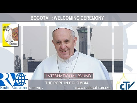 Video: Mirá el recibimiento del Papa Francisco al arribo de su visita a Colombia