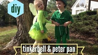 DIY | TODDLER TINKERBELL & PETER PAN COSTUMES FOR HALLOWEEN