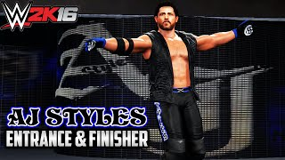 WWE 2K16 Creations: AJ Styles WWE Attire - Entrance /w Trons & Theme (PS4)