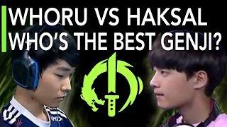 WhoRU VS Haksal: Who's the Best Pro Genji? [Lunatic-Hai vs RunAway] OGN Overwatch APEX S2 Highlights