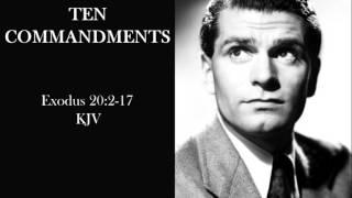 Ten Commandments (KJV) read by Laurence Olivier