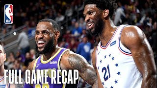 LAKERS vs 76ERS | Embiid Records 37 & 14 | February 10, 2019