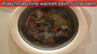 Waschmaschine wackelt & wandert beim Schleudern – Daran liegt es / Ursache & Lösung