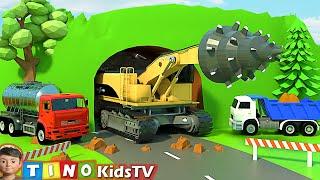 Roadheader & Construction Trucks for Kids | Mountain Tunnel