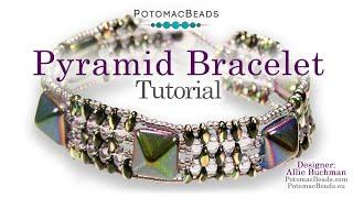 Pyramid Bracelet - DIY Jewelry Making Tutorial By PotomacBeads