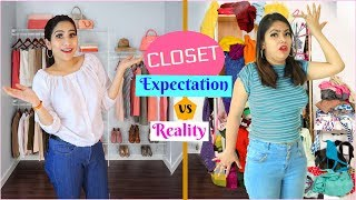 CLOSET TOUR - Expectations vs Reality | Behind the Scenes | #Fun #Vlog #Anaysa