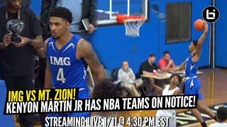 Darius Miles!? IMG Swingman is a HOOPER! KJ Martin and IMG vs Mt. Zion!