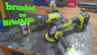 Ryobi brushless grinder v brushed grinder R18AG7-0 and R18AG-0