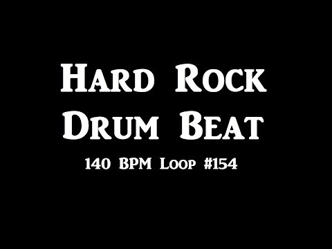 Hard Rock Groove Drum Beat 140 BPM Track For Bass Guitar