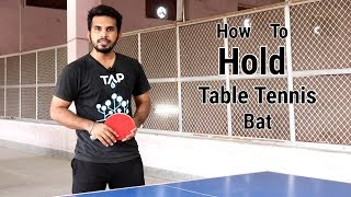 How to Hold a Table Tennis Bat in Hindi | Table Tennis for beginners | Ping Pong Coaching | CJTtalk