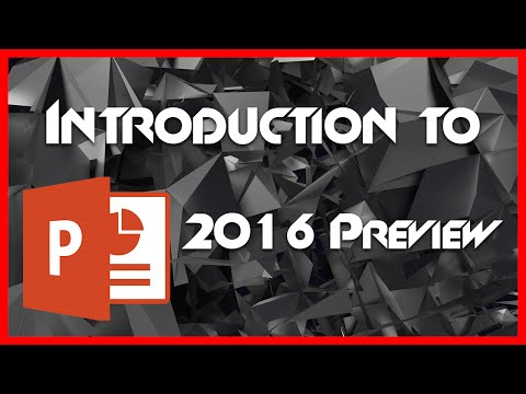 PowerPoint 2016 Preview – 1 – Introduction for Beginners Tutorial