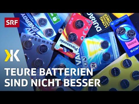 Knopfbatterien im Test: Die Preisunterschiede sind enorm |   2017 | SRF Kassensturz