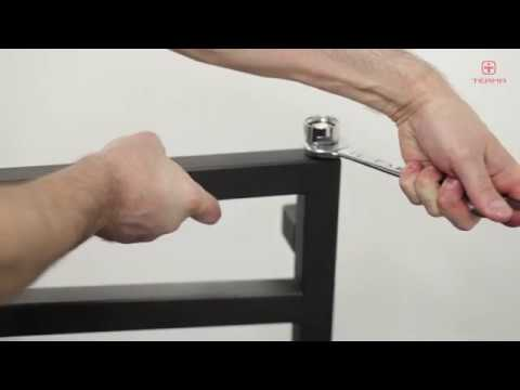 Монтаж электронагревателя через угловой кран-тройник