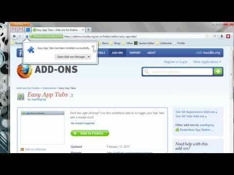 Easy App Tabs Pins Tabs In Firefox With A Double-Click