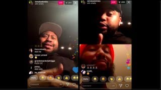 "Meek Mill's ""Cousin OMELLY CONFRONTS DJ Akademiks"" On INSTAGRAM LIVE"