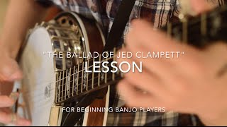 """Free """"The Ballad of Jed Clampett"""" Lesson -Beginner Banjo"""