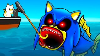 HO CATTURATO IL PESCE GIGANTE SONIC.EXE! - Cat Goes Fishing