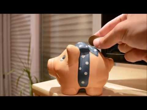 Sneak Money Out Of A Piggy Bank With A Butter Knife