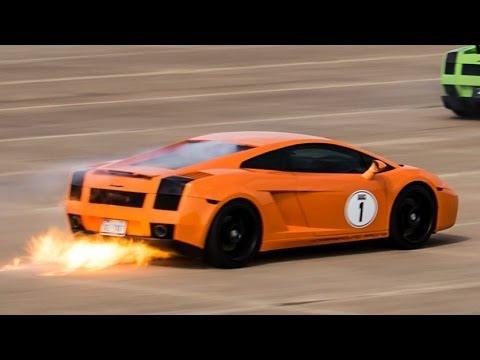 1 800 Hp Lamborghini Gallardo Blows Turbo And Catches Fire