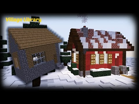 minecraft how to remodel a village house villager library