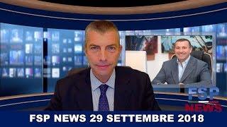 FSP News del 29 settembre 2018