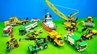 Spielzeugautos für Kinder, Bagger, Laster, Kran & Abschleppauto, Dumper, Müllauto, Küstenwache, Lego