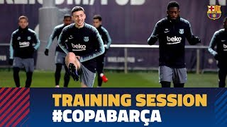 Last training session before the match against Levante