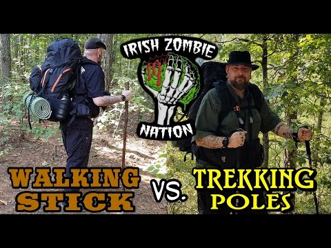 Walking Stick vs. Trekking Poles – Which Is Right For You?  Pros and Cons
