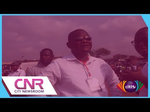 Sylvester Mensah casts ballot in NDC primary