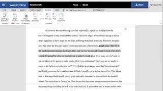 Revising an Essay for Focus