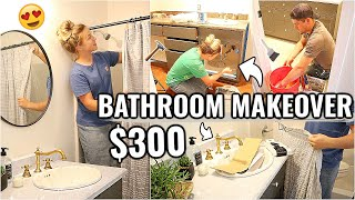 COMPLETE BATHROOM MAKEOVER ON A BUDGET!!😍 BEFORE & AFTER OF OUR ARIZONA FIXER UPPER