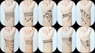 Worlds Best Bracelet Tattoo Designs | Mehndi Tattoos | Cute Mehndi Tattoos By Keval Amit Gohel