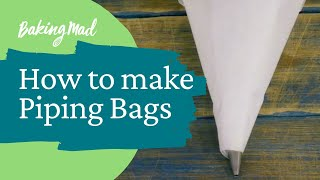 How to make piping bags 2 ways