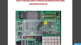 machine mode operation of 8086 microprocessor kit