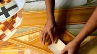 Poleirea cu asiste de aur - gilding a byzantine icon