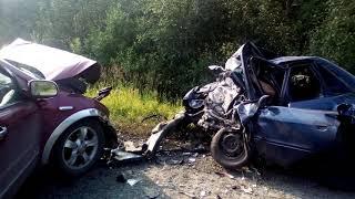 Авария трасса Алтай -Кузбасс 13 08 2018