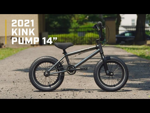 """Видео Велосипед KINK Pump 14"""" серый"""