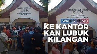 Puluhan Warga Gelar Demo ke Kantor KAN Lubuk Kilangan Padang