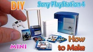 DIY Realistic Miniature PS4 Console   DollHouse