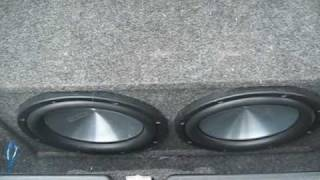 2 12 inch eclipse subwoofers and a orion 2400 watt hcca amp